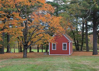 Photograph - Mary's Little Lamb School House Sudbury Ma by Michael Saunders