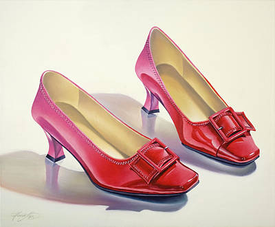 Painting - Mary's Red Shoes by Gema Lopez