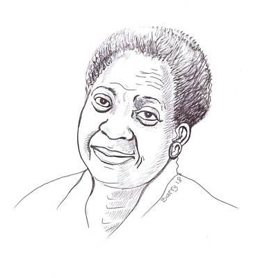 Painting - Maryse Conde 02 by Emmanuel Baliyanga