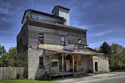Photograph - Marytown Feed Mill by CA  Johnson