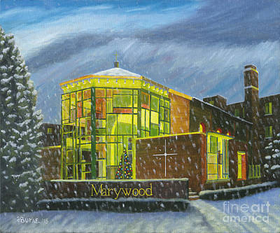Marywood Winter Marian Chapel Original by Austin Burke