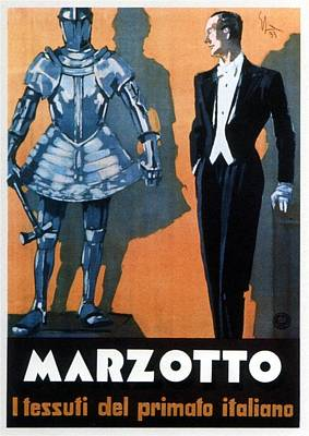 Mixed Media - Marzotto - Italian Textile Company - Vintage Advertising Poster by Studio Grafiikka