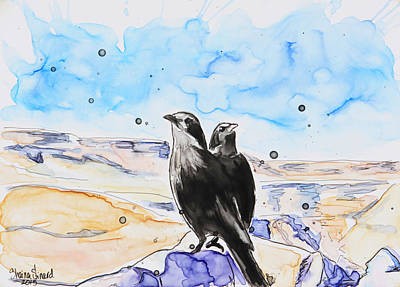 Starlings Painting - Masada by Shaina Stinard