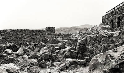 Photograph - Masada Walls by John Rizzuto