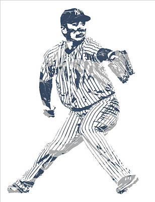 Mixed Media - Masahiro Tanaka New York Yankees Pixel Art 1 by Joe Hamilton