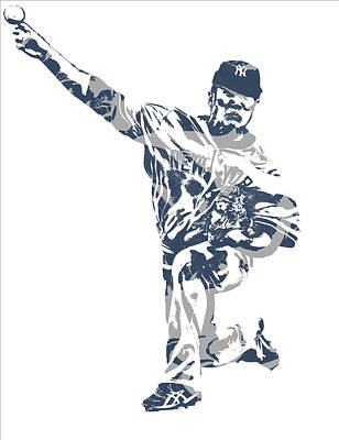 Mixed Media - Masahiro Tanaka New York Yankees Pixel Art 3 by Joe Hamilton