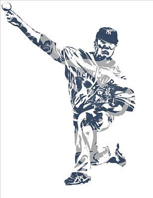 New York Yankees Mixed Media - Masahiro Tanaka New York Yankees Pixel Art 3 by Joe Hamilton