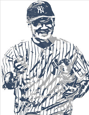 Mixed Media - Masahiro Tanaka New York Yankees Pixel Art 4 by Joe Hamilton