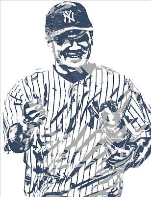 New York Yankees Mixed Media - Masahiro Tanaka New York Yankees Pixel Art 4 by Joe Hamilton