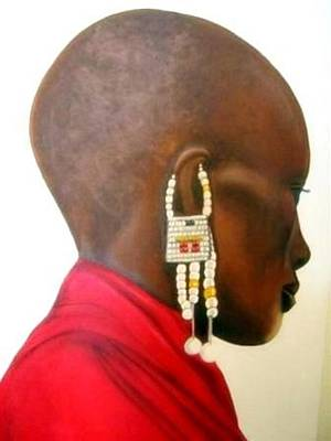 Painting - Masai Woman - Original Artwork by Tracey Armstrong