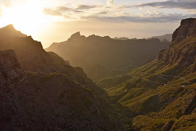 Photograph - Sunset Over Masca Valley Tenerife  by Marek Stepan