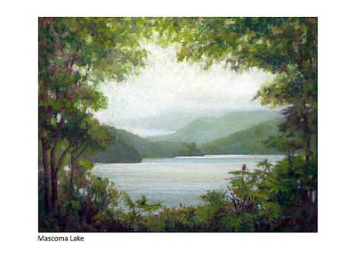 Pastel - Mascoma Lake by Betsy Derrick