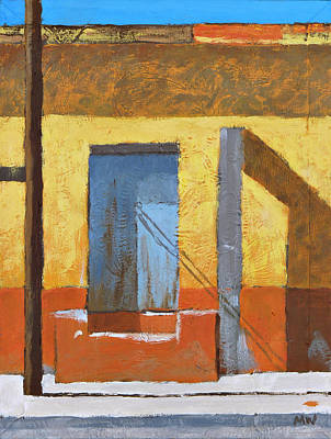 Streetscape Painting - Mascota Door Abstract by Michael Ward