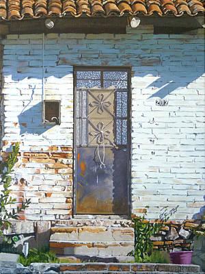 Spanish House Painting - Mascota Door Three by Michael Ward