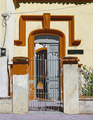 Streetscape Painting - Mascota Door Two by Michael Ward