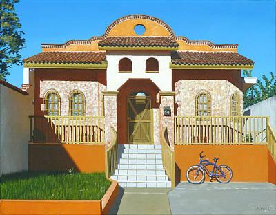 Suburban Painting - Mascota House by Michael Ward