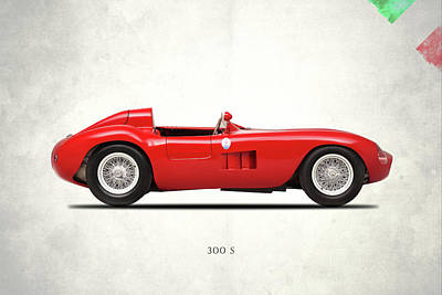 Maserati 300 S 1955 Art Print by Mark Rogan