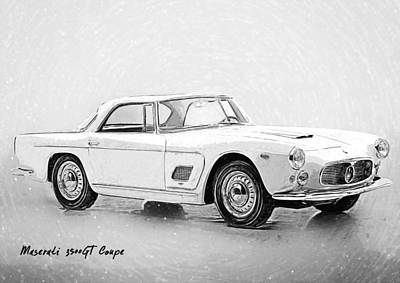 Digital Art - Maserati 3500 Gt by Taylan Apukovska