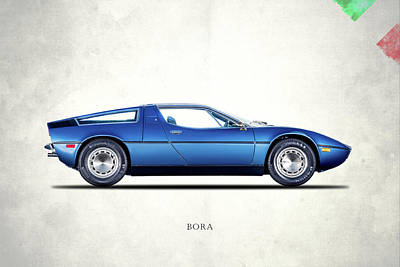 Boras Photograph - Maserati Bora 1973 by Mark Rogan