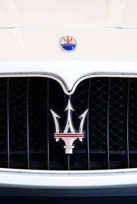 Photograph - Maserati Front Emblem121615 by Rospotte Photography