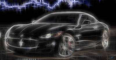 Digital Art - Maserati by Kenneth Armand Johnson