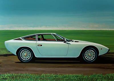 Acryl Painting - Maserati Khamsin 1974 Painting by Paul Meijering