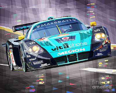 Maserati Digital Art - Maserati Mc12 Gt1 Variant by Yuriy Shevchuk