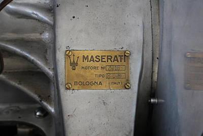 Maserati Motore 3015 Art Print