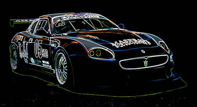 Digital Art - Maserati by Sebastian Musial