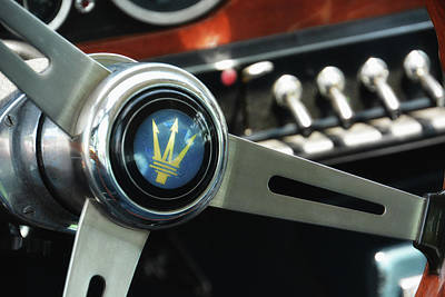 Photograph - Maserati Steering Wheel by Mike Martin