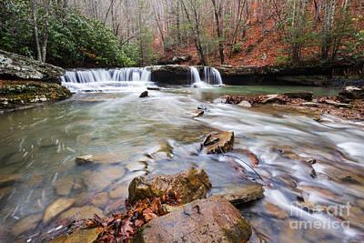 Photograph - Mash Fork Falls by Mel Petrey