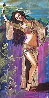 Bellydancer Painting - Masha by Stephanie Bolton