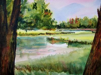 Mashpee Painting - Mashpee River by Linda Emerson