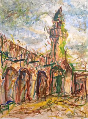 Painting - Masjed II by Khalid Alzayani