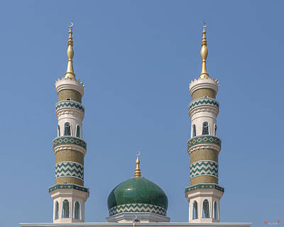 Photograph - Masjid Darul-ibadah Dome And Minarets Dthcb0240 by Gerry Gantt