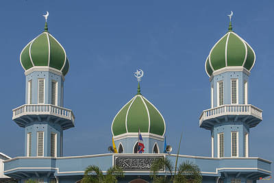 Photograph - Masjid Hidayatussaligeen Dome And Minarets Dthcb0244 by Gerry Gantt