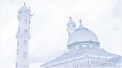 Allah Painting - Masjid Mosque by Celestial Images