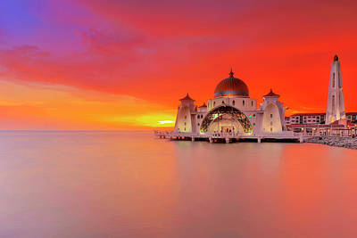 Masjid Selat Melaka Part 2 Art Print