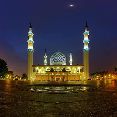 Mosque Photograph - Masjid Shah Alam by Mohd Rizal Omar Baki