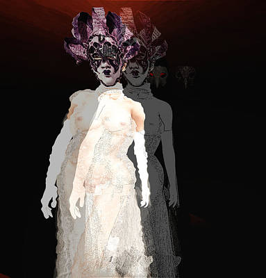 Ball Gown Digital Art - Mask-02 by Theda Tammas
