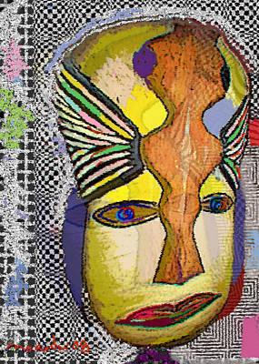 Mask 13 Art Print by Noredin Morgan