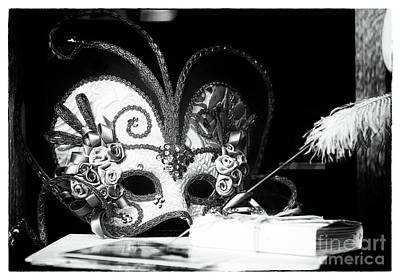 Photograph - Mask And Pen by John Rizzuto