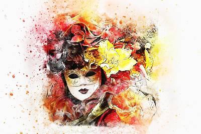 Nirvana - Mask by Carlene Smith