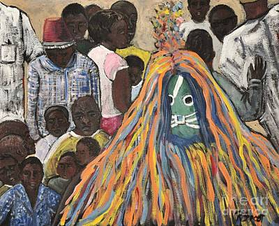 Painting - Mask Ceremony Burkina Faso by Reb Frost