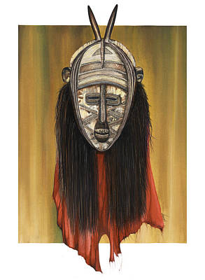 Mixed Media - Mask I Untitled by Anthony Burks Sr