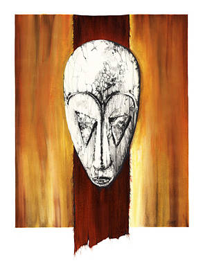 Mixed Media - Mask II Untitled by Anthony Burks Sr