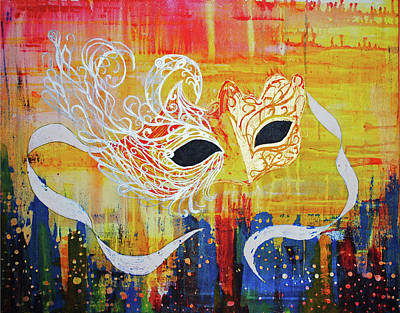 Painting - Mask by Josean Rivera