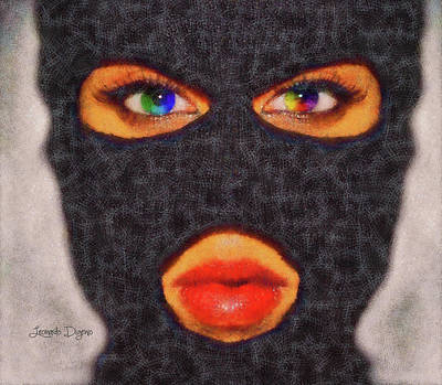 Make-up Painting - Mask by Leonardo Digenio