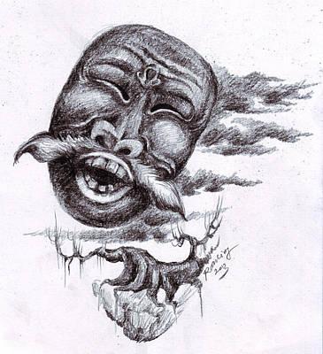 Hati Drawing - Mask by Mohammad Ramli