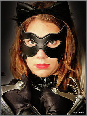 Photograph - Mask Of A Cat Woman by Jon Volden
